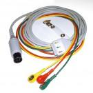 3-adriges EKG Kabel 3 m mit Ableitung,